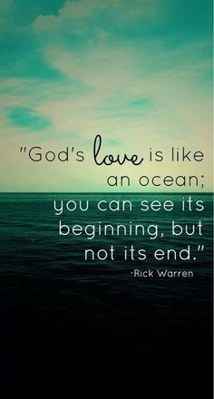 God's love is like an ocean...