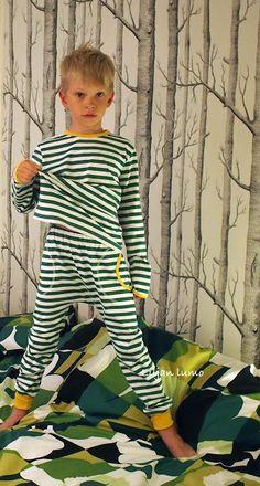 Liljan Lumo: Rakkaudesta Marimekkoon -tasaraita pyjama Marimekko with love - tasaraita night pyjama Marimekko, Kids Outfits, Dresses With Sleeves, Sewing, Children, Long Sleeve, Clothes, Women, Fashion