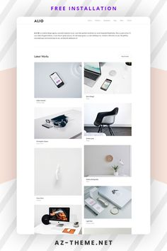 Alio is a high-quality creative theme with great style and clean code. Alio can be used for many purposes starting from minimal portfolios, agencies, freelancers and much more. The theme is created and tested in all devices and works perfectly without a single issue. #portfolio #wordpress #blog Wordpress Portfolio Template, Free Portfolio Template, Wordpress Website Design, Wordpress Template, Custom Website Design, Web Themes, Best Web Design, Web Layout, Website Design Inspiration