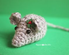 Twas the night before Christmas, when all through the house,Not a creature was stirring, not even a… crochet mouse! This teeny tiny crochet mouse is as cute as can be especially if you dress him up for the holidays… how about a little crochet santa hat?! A perfect tree ornament, present topper, or just a …