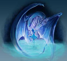 Lapis Lazuli and Dragon ||| Steven Universe Fan Art by lovebonbe on Tumblr
