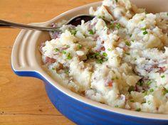 Parmesan Smashed Potatoes, so good....