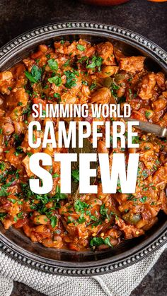 Meet your new favourite recipe! This Syn Free Campfire Stew is easy to make in the oven, slow cooker or the Instant Pot. Meet your new favourite recipe! This Syn Free Campfire Stew is easy to make in the oven, slow cooker or the Instant Pot. Slow Cooker Stew Recipes, Healthy Slow Cooker, Pressure Cooker Recipes, Meat Recipes, Vegetarian Recipes, Dinner Recipes, Cooking Recipes, Healthy Recipes, Pork Stew Slow Cooker