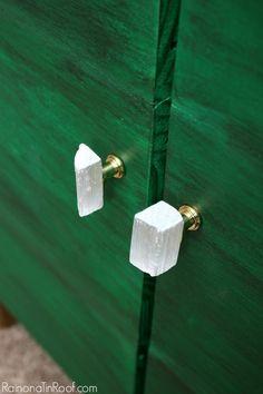Bricolage Sélénite Boutons - Ce sont magnifiques!  De plus, ils coûtent moins de 1 $ par bouton à faire!  / Quincaillerie / Gem Boutons / Gem Hardware / Boutons Pierre / Pierre Hardware