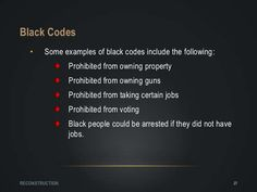 #32 Black Codes are used today in 2015 by evil vile red neck white police