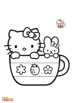 Coloriage Hello Kitty