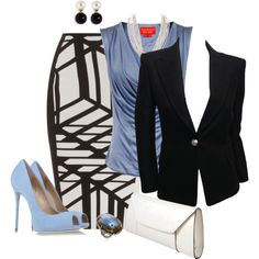 Work Outfits with Kenneth Jay Lane Baroque pearl ball stud earrings - Outfit Ideas