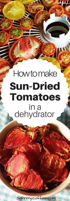Making sun-dried tomatoes is one of my favorite ways to preserve the harvest! Here's how to make sun-dried tomatoes in a dehydrator.