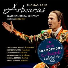 Classical Opera Company - Artaxerxes CD £17
