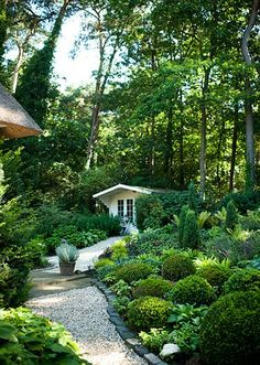 Shade Garden Ideas Starting a Shade Garden Shade Garden Ideas. The shade garden can be exploding with color and texture. No matter how much shade is in your landscape, the right flowers, plants, bu… Back Gardens, Small Gardens, Outdoor Gardens, Landscape Plans, Landscape Design, Landscape Bricks, Amazing Gardens, Beautiful Gardens, Backyard Ideas For Small Yards