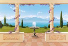 Murals | Bella Vista Mural | Trompe L'oeil Murals | Wallpaper Murals Ltd