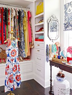 I think I like the colorful wardrobe as much as I like the closet.
