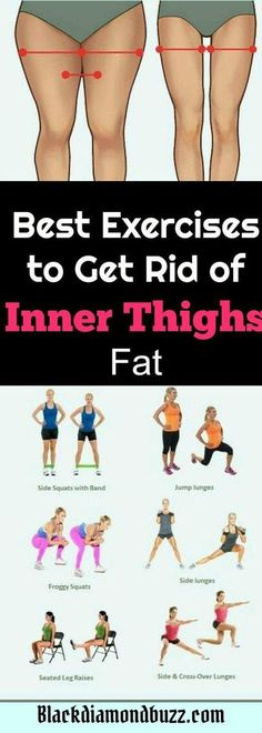 Exercises to get rid of the fat between your legs