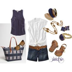 Summer Blues, created by jackijons on Polyvore