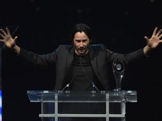 Keanu Reeves Photos - CinemaCon 2016 - The CinemaCon Big Screen Achievement Awards Brought To You By The Coca-Cola Company - Show - Zimbio Keanu Reeves House, Keanu Charles Reeves, Caesars Palace, Creepy, Bring It On, Entertaining, Actors, Concert, Reading