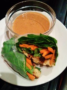The Fresh Beet: Recipe Redux: Tempeh Spring Rolls with Spicy Peanut Sauce