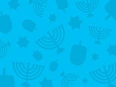 Hanukkah Wallpaper With Dreidels Menorahs And Stars Of David