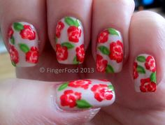 I had a bit of a nail disaster this weekend and you will see from the photos that my . Rose Nails, Flower Nails, Art Addiction, Chic Nails, You Are Awesome, Wedding Nails, Nails Inspiration, Hello Everyone, Pretty Nails