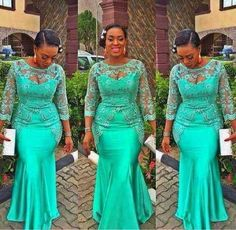 Green Long Sleeves Evening Gowns Sheer Neck Lace Appliques Beads Mermaid Prom Dress African Plus Size Party Dress Formal Vestidos African Evening Dresses, African Print Dresses, Mermaid Evening Dresses, African Fashion Dresses, African Print Fashion, African Dress, African Prints, Ghanaian Fashion, Nigerian Fashion