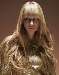 long hair style for women Bangs With Medium Hair, Long Bangs, Remy Hair Wigs, Human Hair Wigs, Hair Styles 2014, Long Hair Styles, Beautiful Blonde Hair, Pretty Hair, Hair Addiction