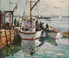 """""""Morning Light Rockport,"""" Carl William Peters, oil on canvas, 20 x 24"""", private collection."""