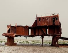 Nadav Kander : The Aral Sea III (Fishing Trawler), Kazakhstan 2011(Courtesy of Flowers Gallery)   (via It's Nice That)