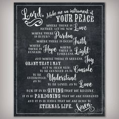 """St. Francis of Assisi Quote """"Instrument of Your Peace"""" Digital Art - Includes 8x10, 11x4, & 16x20 sizes INSTANT DOWNLOADS - Printable Files"""