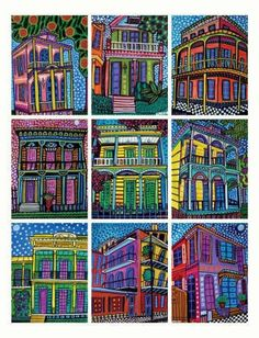 ACEO CARDS  New Orleans City  Set of 9 PRINT by HeatherGallerArt, $24.00