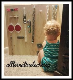 DIY Sensory Board for Babies and Toddlers | ALLterNATIVElearning