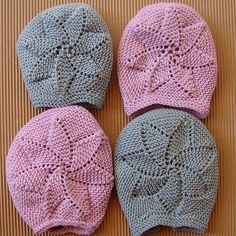 tutorial capota bebé dos agujas, knit  baby bonnet