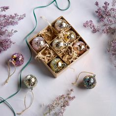 Your holiday will shine bright with these gorgeous Gold & Jewel Tone Textured Glass Ball Ornaments. Set of 9 Hand-blown textured glass ornaments. Metal Christmas Tree, Blown Glass Christmas Ornaments, Old World Christmas, Ball Ornaments, Christmas Balls, Miniature Christmas, Xmas, Ornament Box, Glass Texture