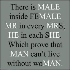 "It is truely said- "" A MAN can't live without a WOMAN.."" Agree or not?? Find your perfect life partner- https://twitter.com/NeilVenketramen"