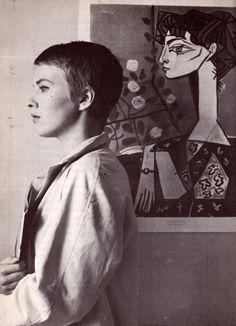 Jean Seberg in A Bout de Souffle (1960, dir. Jean-Luc Godard).