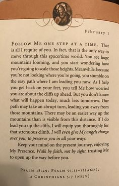 Good morning I will walk by faith ~ Bible Quotes About Faith, Wisdom Scripture, Prayer Verses, Bible Teachings, Bible Verses Quotes, Words Of Encouragement, Bible Scriptures, Faith Quotes, Jesus Calling Devotional