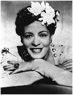 One of the most identifiable accessories in jazz history was Billie Holiday's (1915-1959) gardenia – which, for a decade from the late 1930s, was a key part of her look. Description from mysilhouettestyle.com. I searched for this on bing.com/images