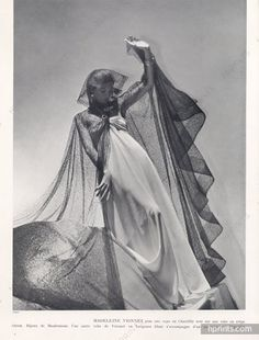 Madeleine Vionnet 1937 Photo Horst, Lace Evening Gown                                                                                                                                                      More