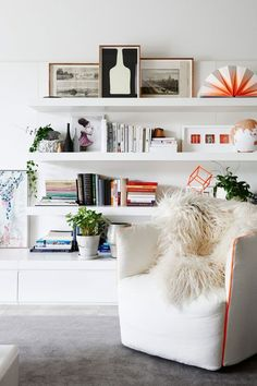 25 Genius Ways to Design Your Small Living Room!, Laurel & Wolf, Contemporary Shelving| Laurel & Wolf