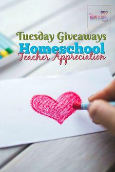 2017 Homeschool Teacher Appreciation Tuesday Giveaways via @hiphmschoolmoms
