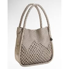 crochet bag. I like how the handles go all the way around