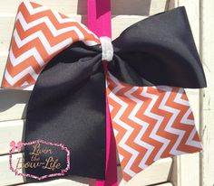 Burnt Orange and Black Tic Toc Bow by LivinTheBowLife on Etsy