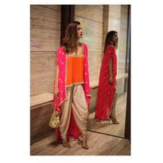 """4,731 Likes, 103 Comments - Arpita Mehta Official Page (@arpitamehtaofficial) on Instagram: """"The perfect Festivewear Ensemble! Cami , Cape & Dhoti pants , and the Mirror Potli, Shop this and…"""""""