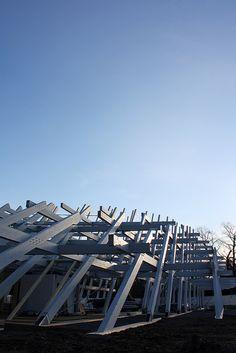 Ook voor moderne architectuur moet je in #Karlsruhe zijn. Zoals deze constructie van #Jürgen Mayer H. Karlsruhe300 pavilion