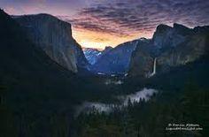 sunrise in Yosemite park