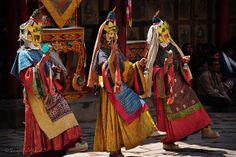 The sacred mask dance of Hemis festival,Ladakh
