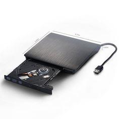 [Le bateau de L'entrepôt Local] USB 2.0 DVD-RW Graveur DVD Externe Lecteur CD +-RW Lecteur Écrivain Enregistreur Lecteur Optique pour Ordinateur Portable