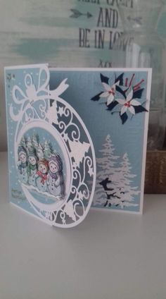 pergamano card and paintings Page 10 # Christmas card Christmas Card Crafts, Homemade Christmas Cards, Christmas Cards To Make, Christmas Paper, Xmas Cards, Homemade Cards, Holiday Cards, Christmas Ornament, Marianne Design Cards