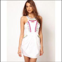 Lipsy Neon Embellished Dress Size 6