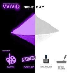 VViViD Glow in The Dark Additive Powder Packet for Homemade Slime and Assorted Craft Applications (Purple) Road Markings, Homemade Slime, Pigment Powder, Dipped Nails, Day For Night, Craft Materials, Amazon Art, Sewing Stores, The Darkest