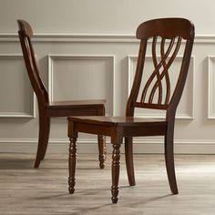 Found it at Wayfair - Courtdale Side Chair - Almond/Ebony