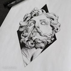 Griegos dibujos - this but with the athena statue Tattoo Sketches, Tattoo Drawings, Body Art Tattoos, Art Sketches, Small Tattoos, Sleeve Tattoos, Art Drawings, Statue Tattoo, Mythology Tattoos